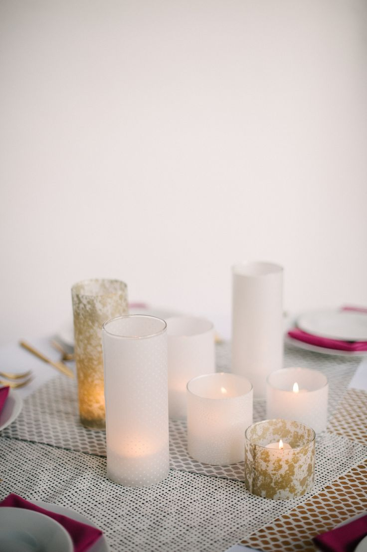Wintery white candles
