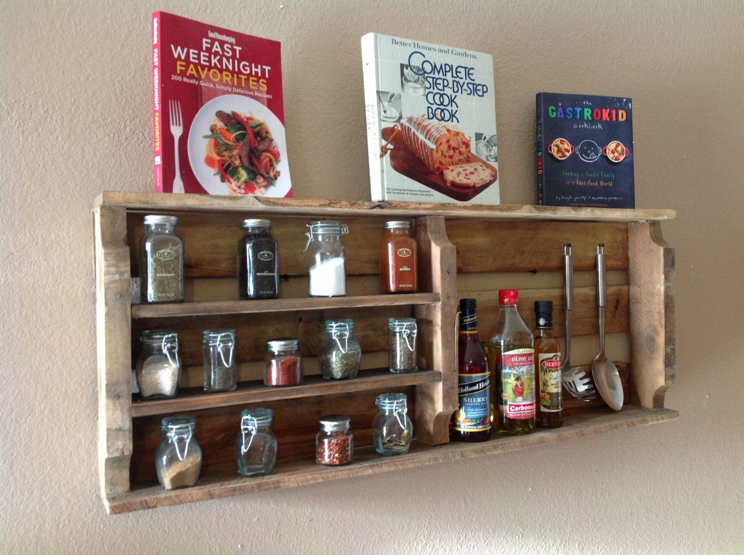 Spice Rack & 39 Wood Crate Storage Ideas That Will Have You Organized In No Time!