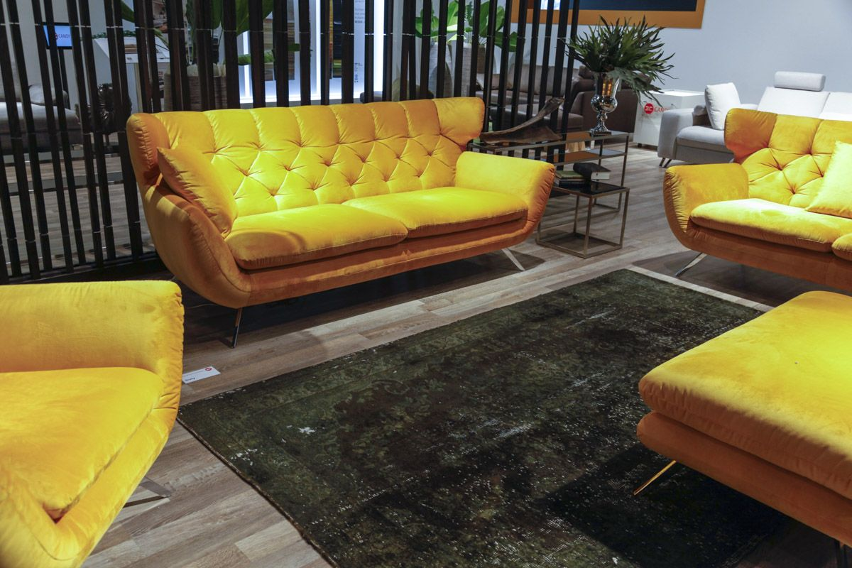 yellow velvet sofa 15 trendy velvet sofas for a refined touch shelterness thesofa. Black Bedroom Furniture Sets. Home Design Ideas