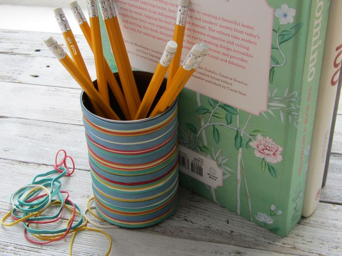 Colorful pencil boxes to beautify your desk with Cool pencil holder ideas