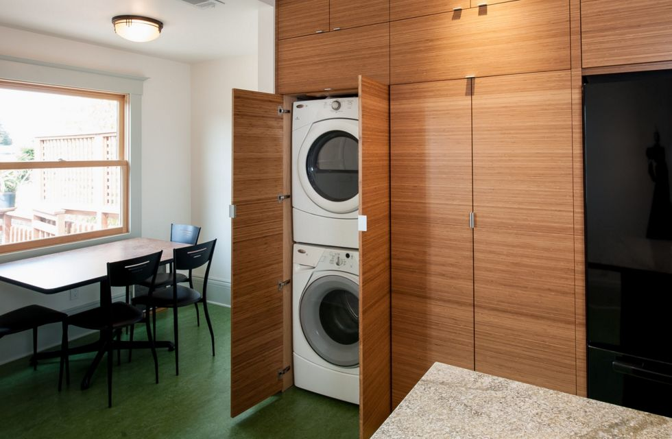 conceal your stacked washer and dryer