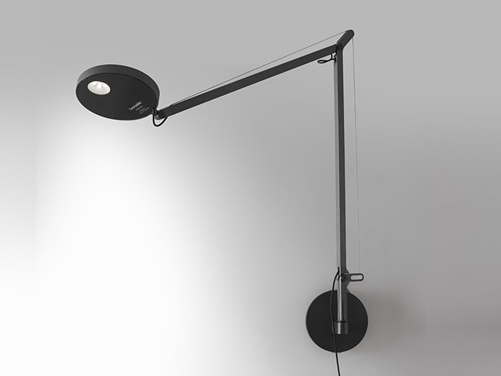 demetra direct light wall lamp with swing arm