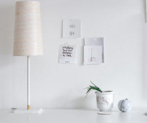 How To Make A Wooden Looking Lampshade With This Easy Trick