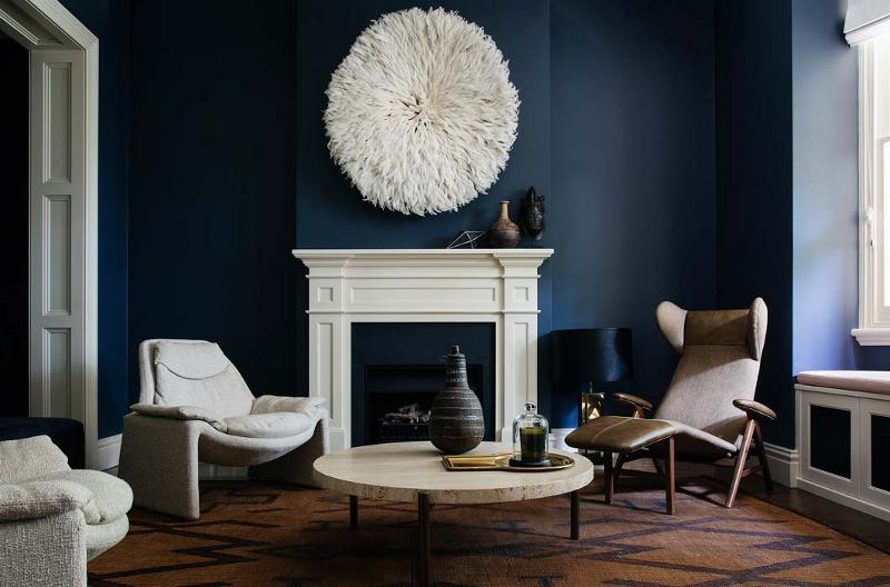 Arent Pyke Deep Blue living room