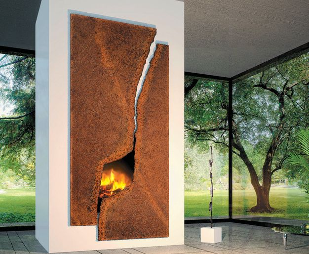An artful fireplace can take many forms, its role always being to stand out