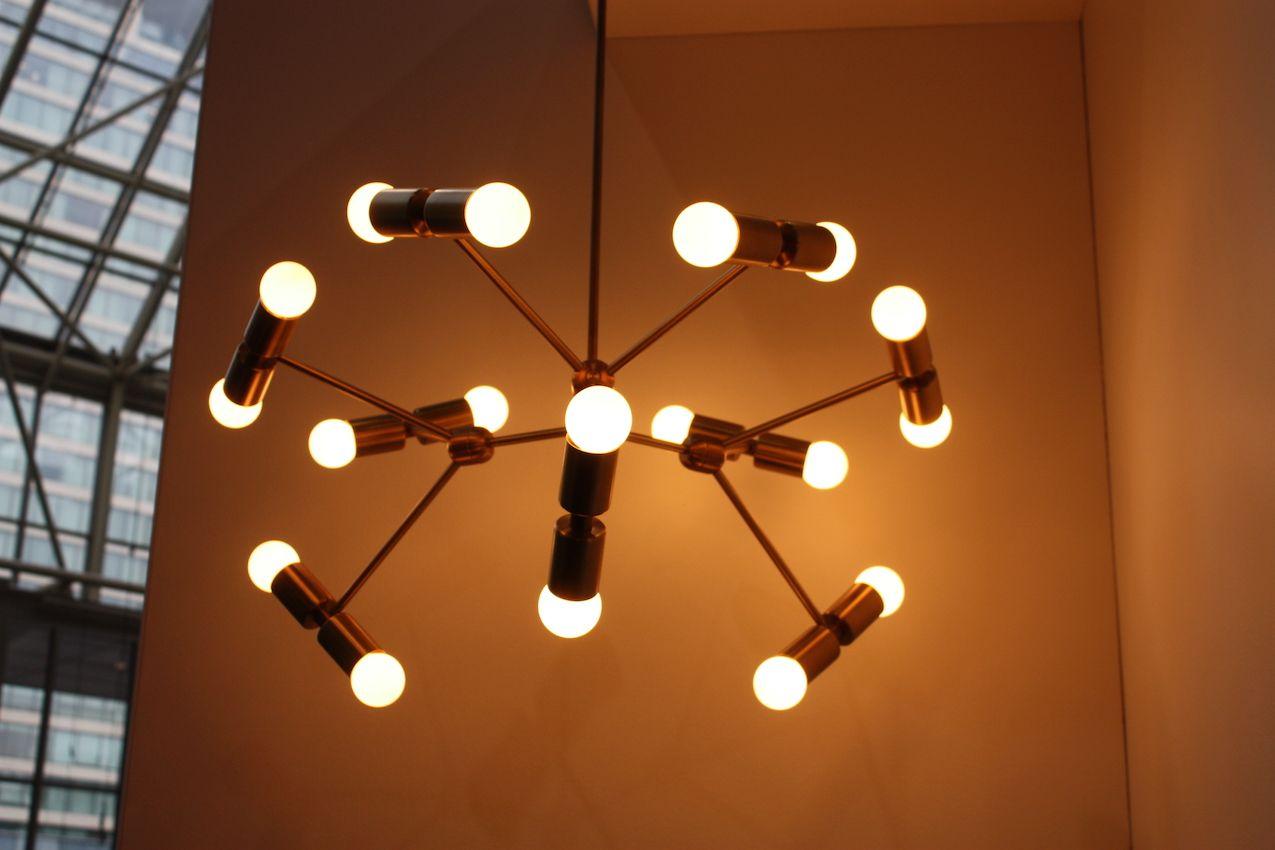 Atom brass lightinng fixture