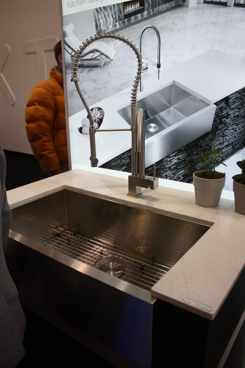 Kitchen sinks are available in many stiles like this farmhouse model from Blanco.