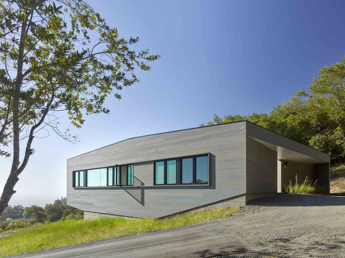 Box on the Rock in Sonoma Valley compact architecture