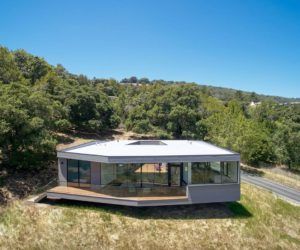 Compact Home Above Sonoma Valley Resembles A Box On Rocks