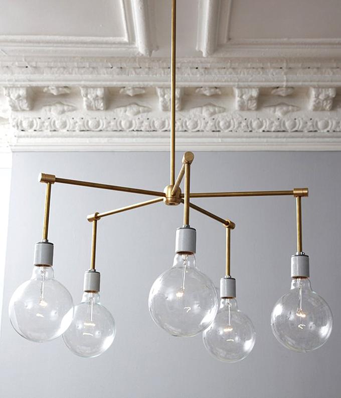 Brass chandelier DIY