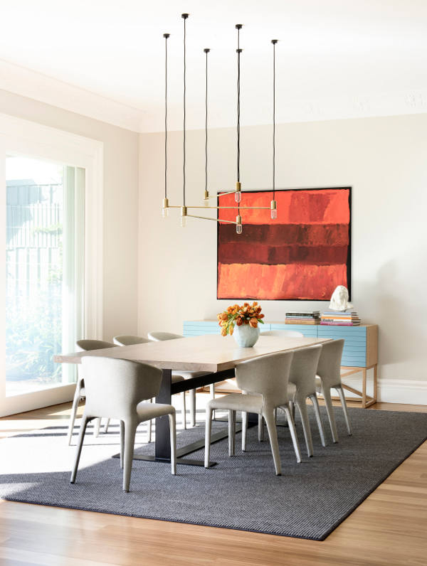 Bright abstract wall art for dining area