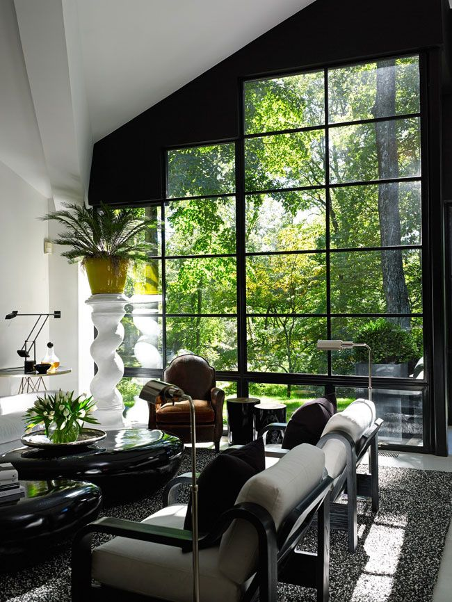 Bring nature through large windows in