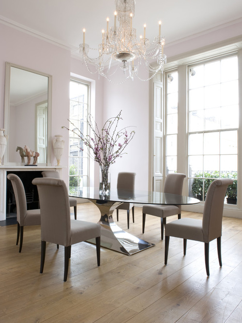 40 glass dining room tables to revamp with from rectangle for Dining room table designs