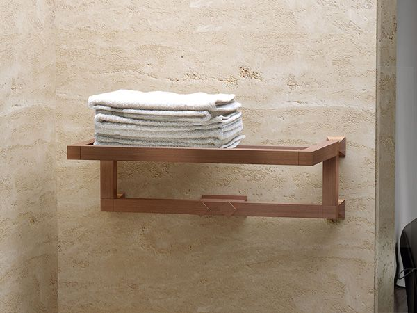 Charming radiator like a shelf for towels