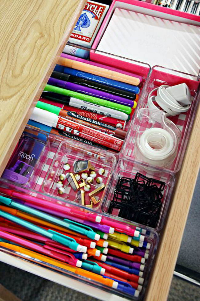 Clear Office Drawer Organizing