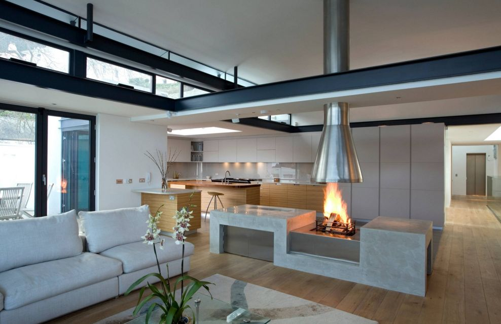 How To Decorate A Small Living Room With Fireplace In The Middle ...