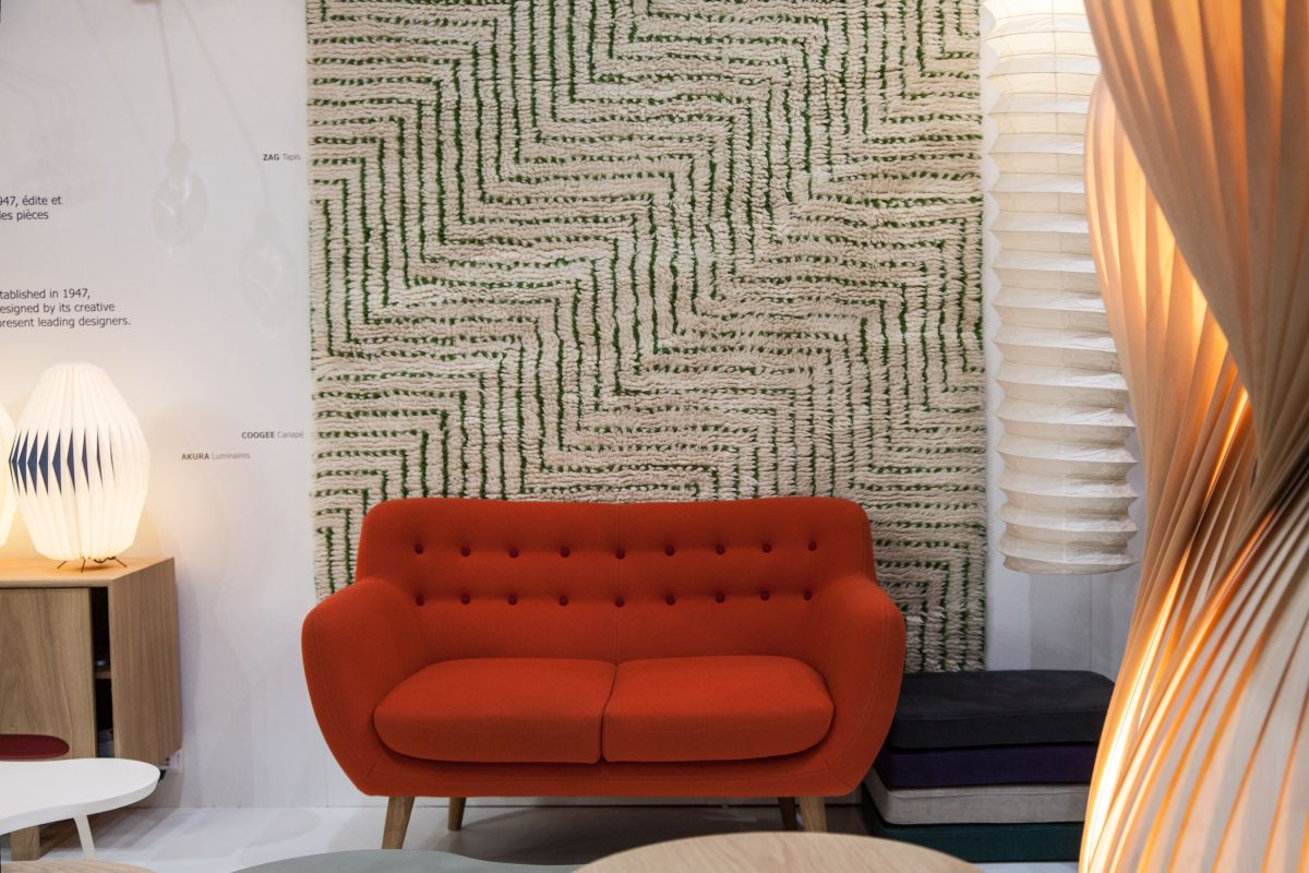 Coofee sofa wool broadcloth