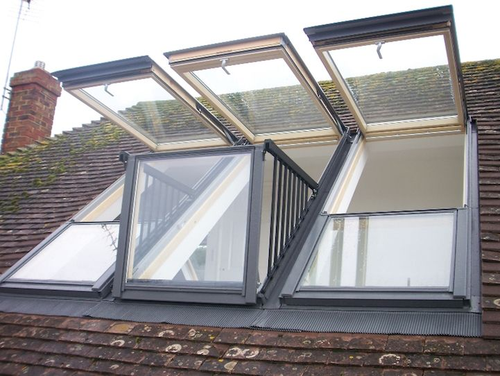 Cool roof window that transform into a balcony
