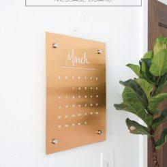 Wall Copper Message Board