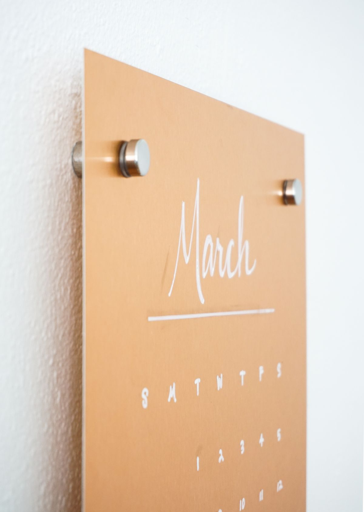 Copper Message Board DIY Angle