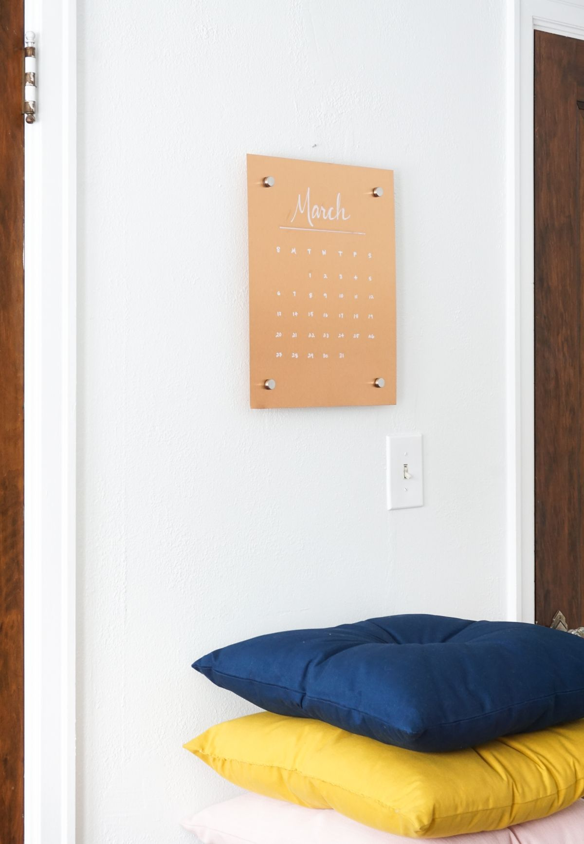 Copper Message Board DIY on Wall