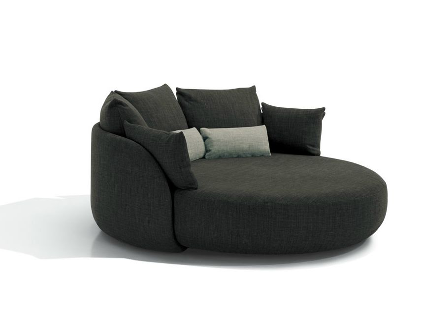 Cosy Grey Round Sofa