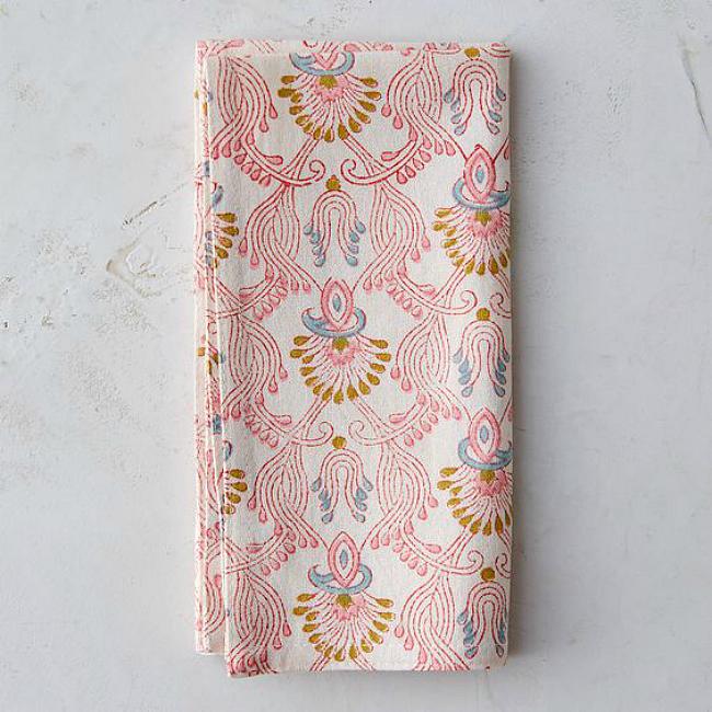 Cotten printed pink napkin