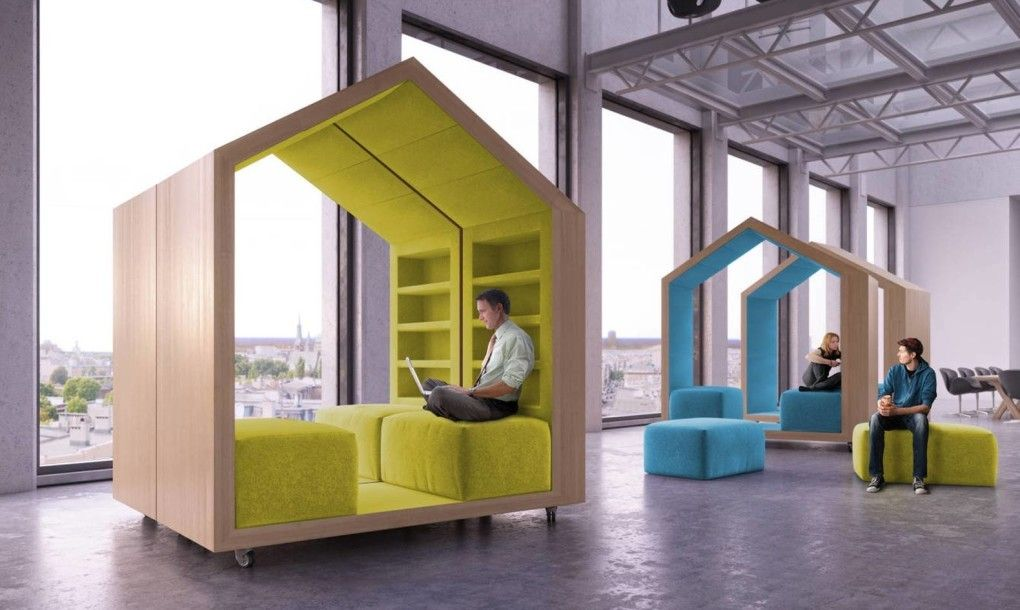 Cozy modula cubes on wheels