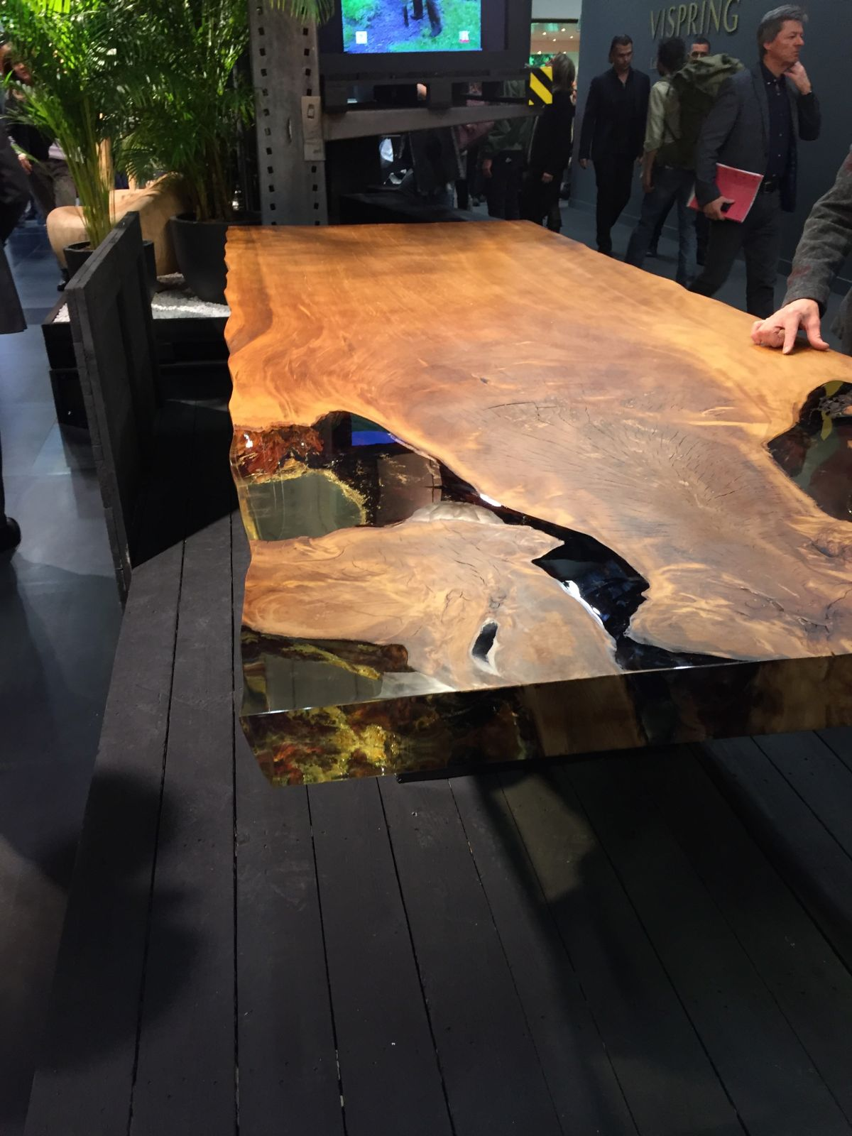 Cube Ancient New Zealand Kauri Wood Table