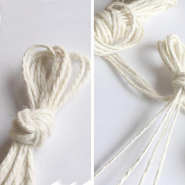 DIY Bohemian Macrame Plant Hanger - Hanger Loop