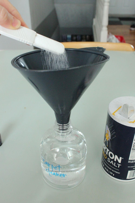 DIY Carpet Cleaner - add salt