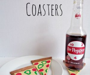 DIY Clay Pizza Slice Coasters
