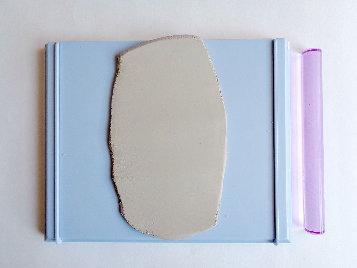 DIY Clay Pizza Slice Coasters - one third of clay