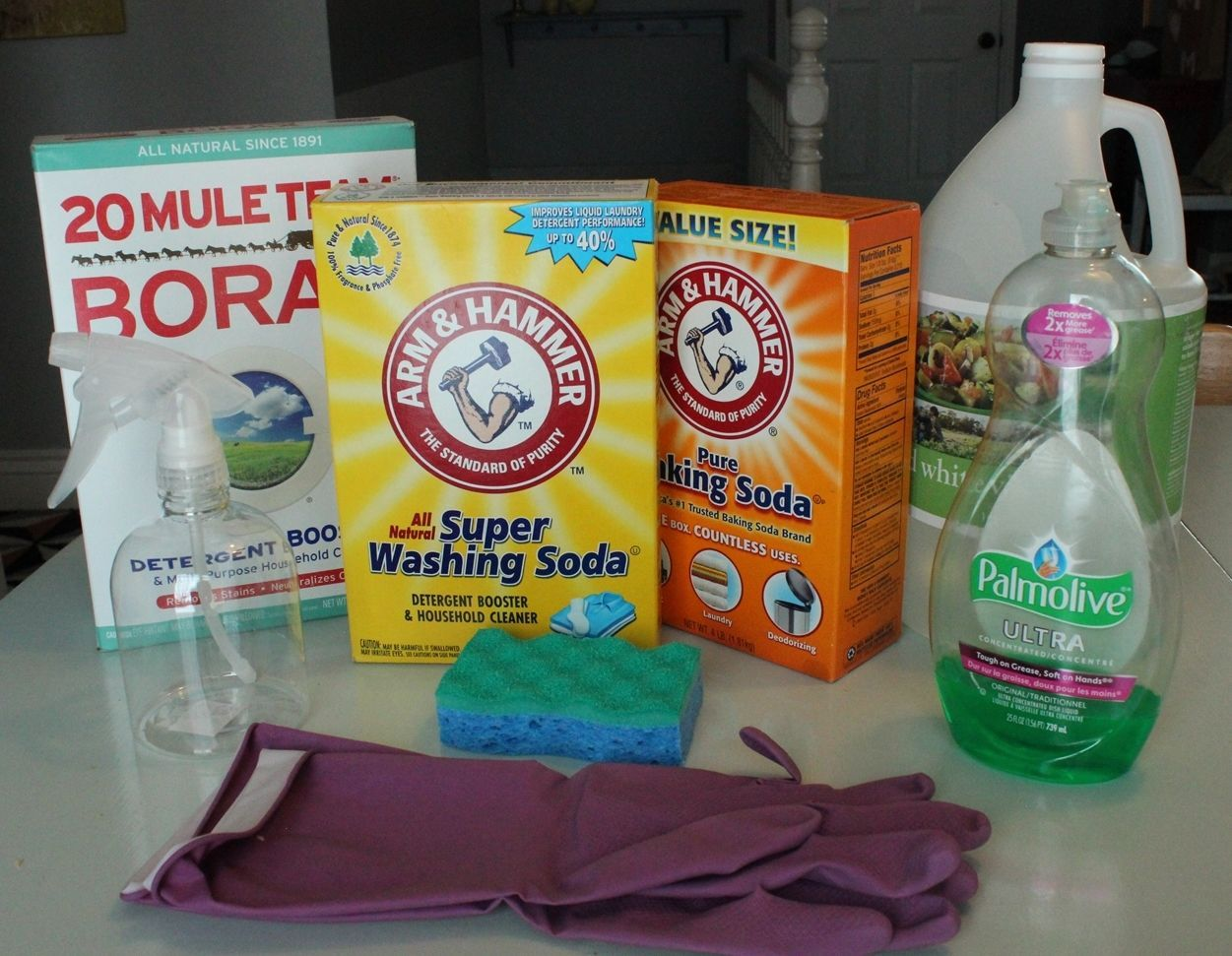 DIY Natural Grout Cleaner Materials