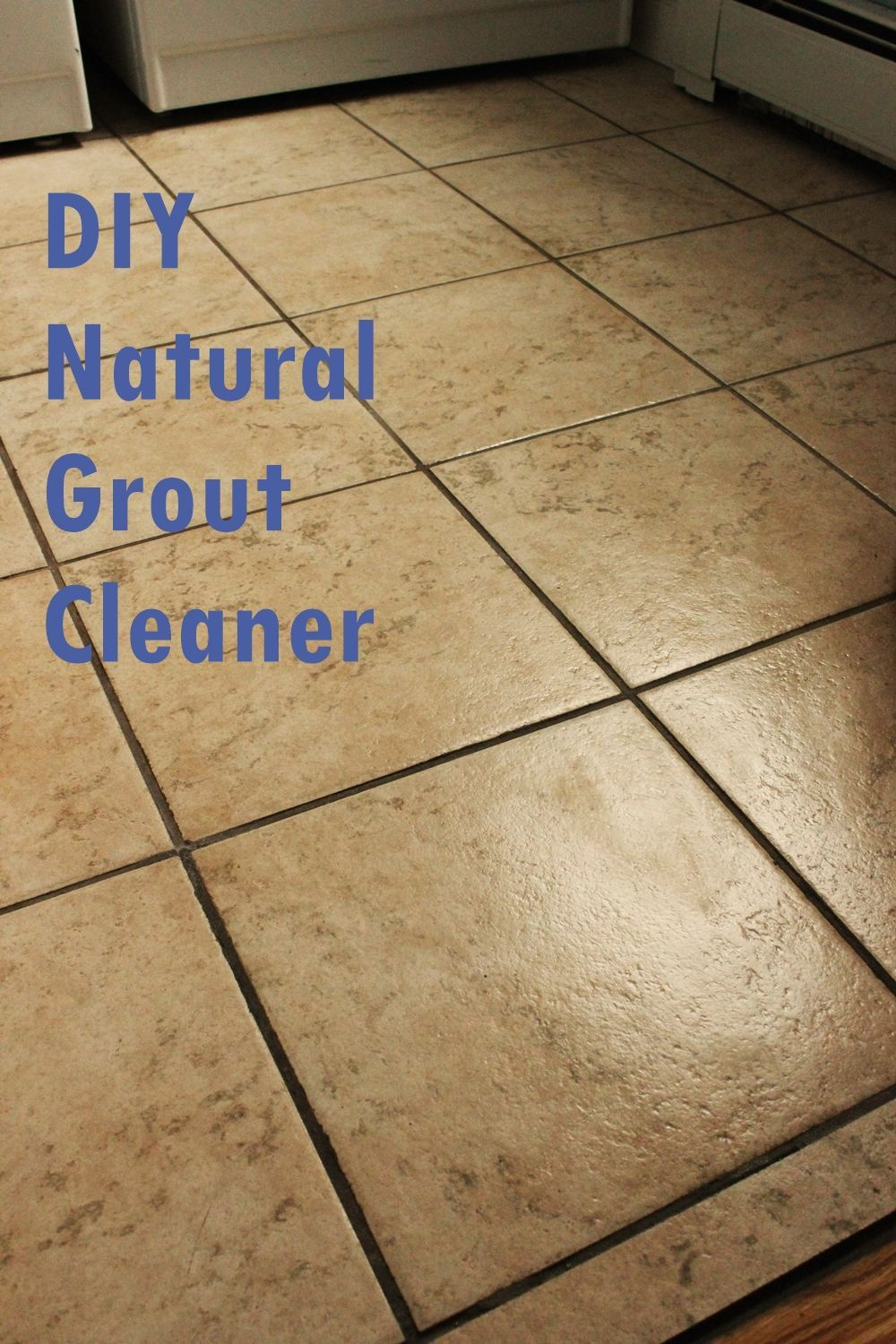 DIY Natural Grout Cleaner Tutorial