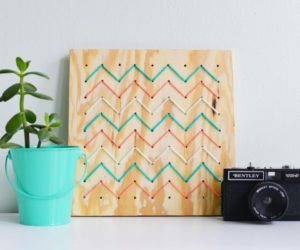 DIY Pegboard String Art