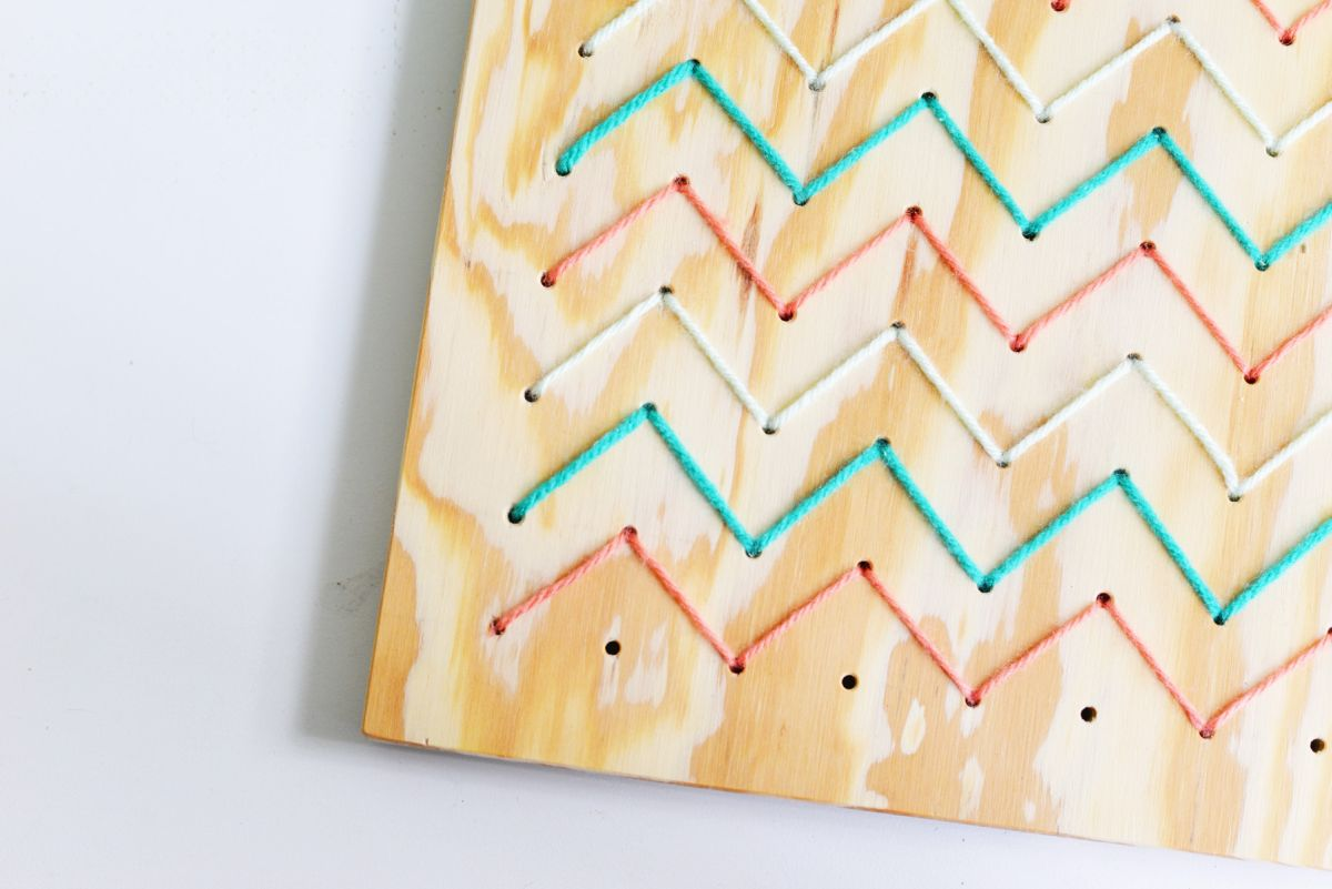DIY Pegboard String Art - Closer