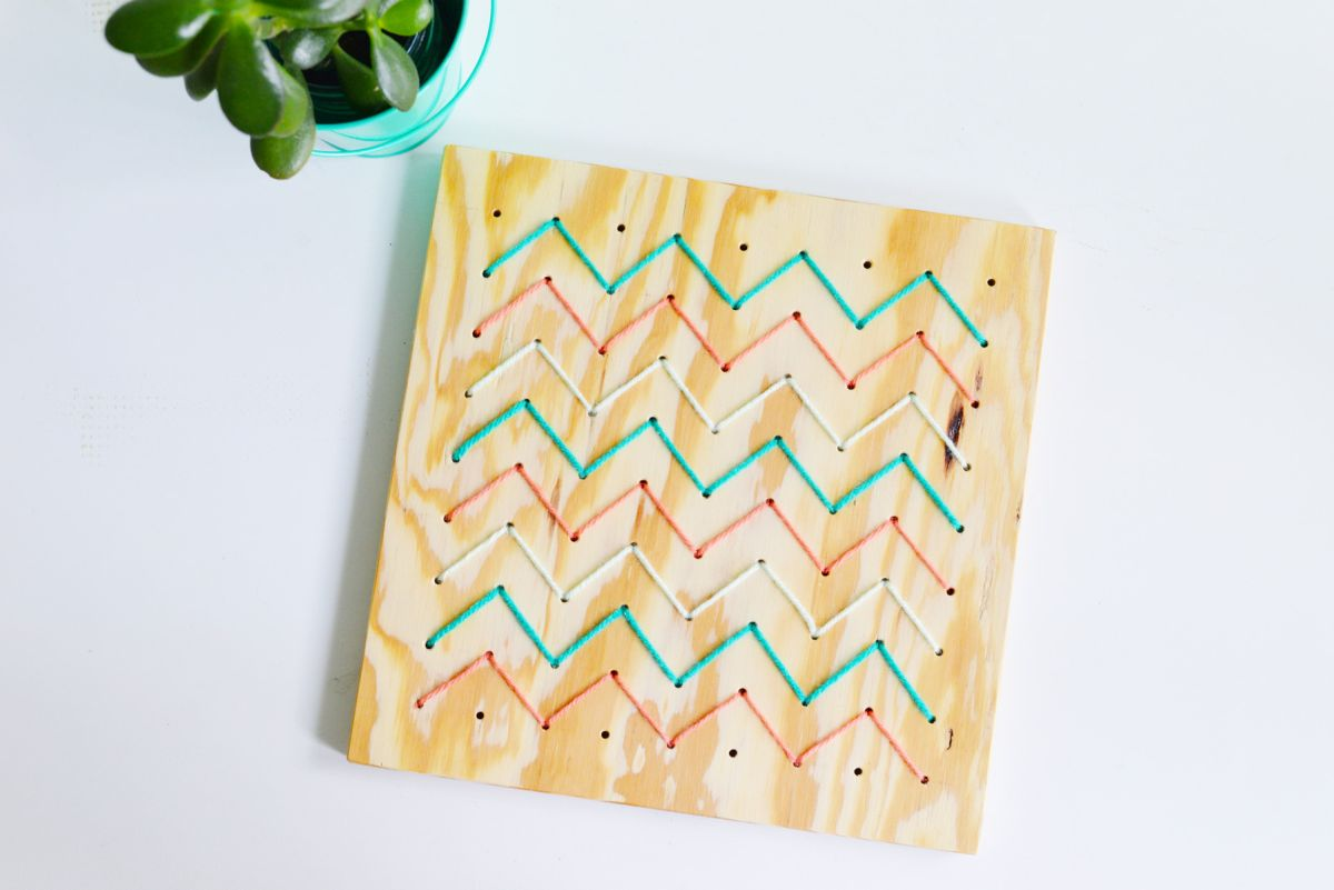 DIY Pegboard String Art - Display