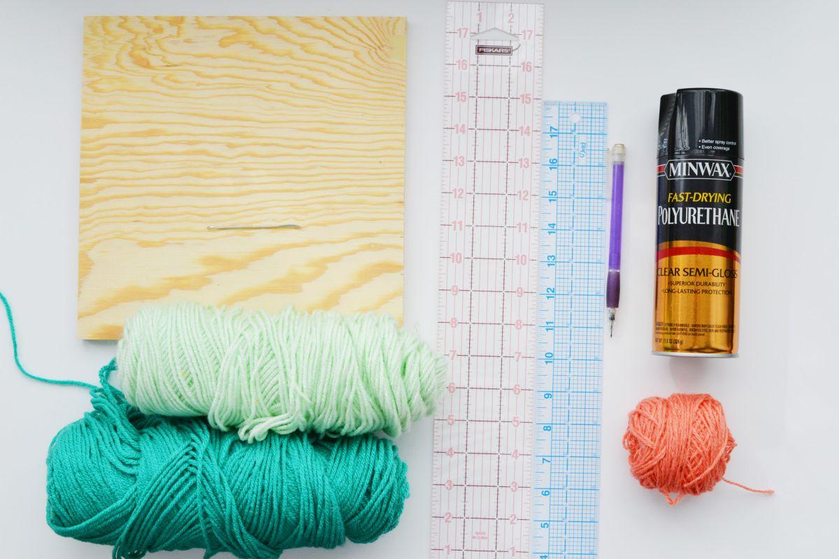 DIY Pegboard String Art - Materials