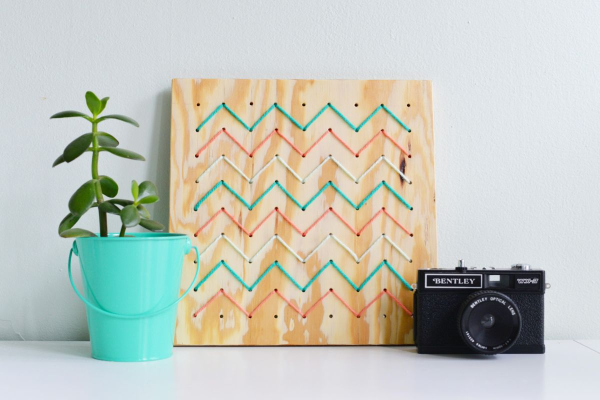 DIY Pegboard String Art - Modern Wall Decor