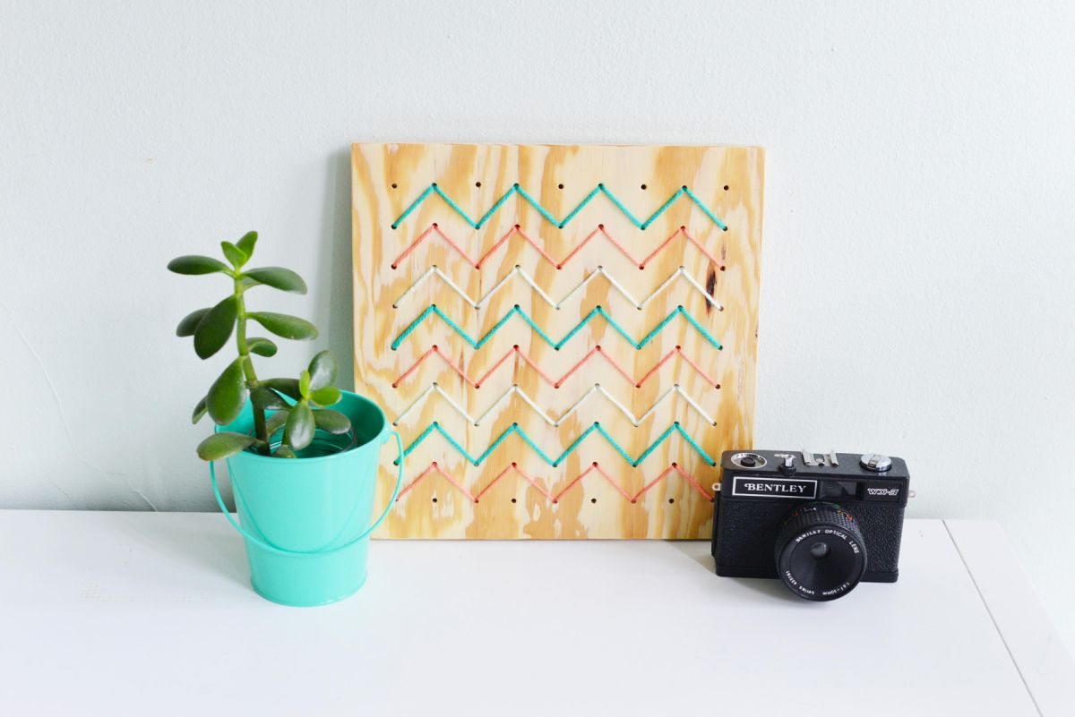 DIY Pegboard String Art - Top