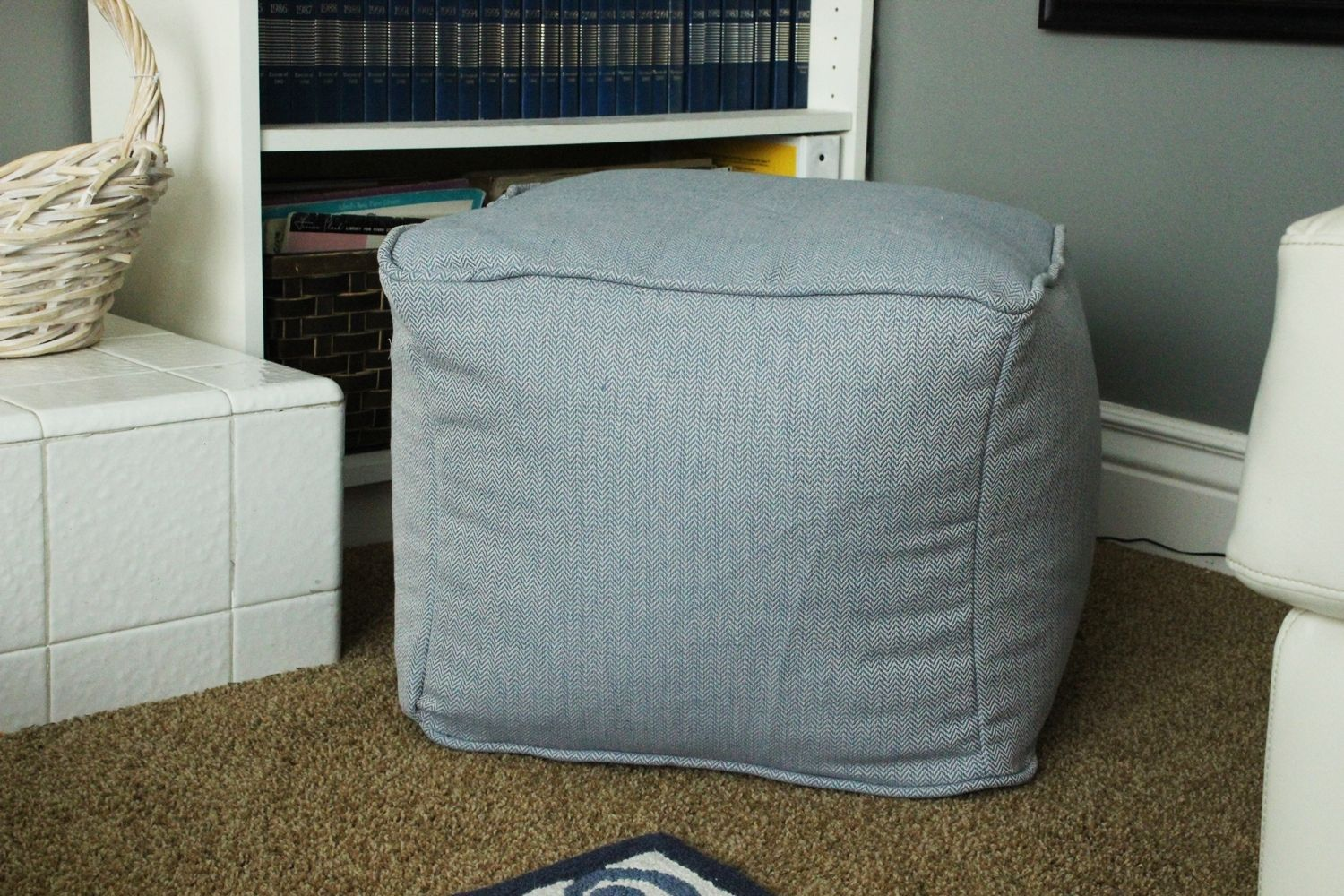 Superb Diy Pouf Ottoman Cube Machost Co Dining Chair Design Ideas Machostcouk