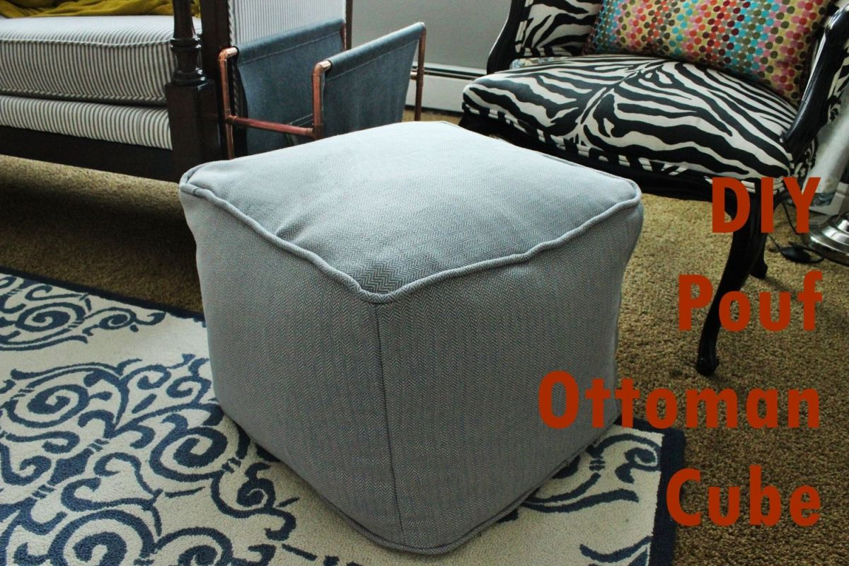 Enjoyable Diy Pouf Ottoman Cube Machost Co Dining Chair Design Ideas Machostcouk