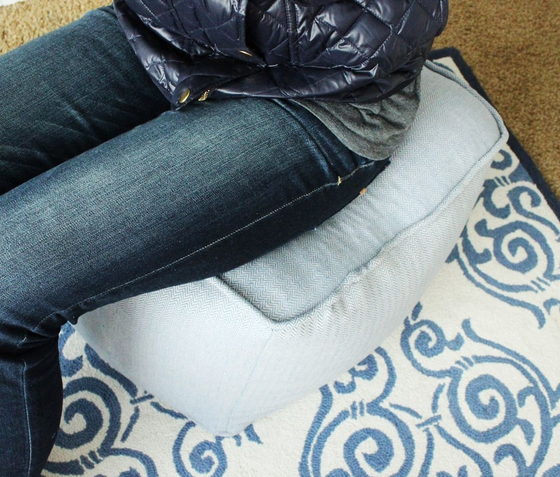 DIY Pouf Ottoman Cube - adult seating