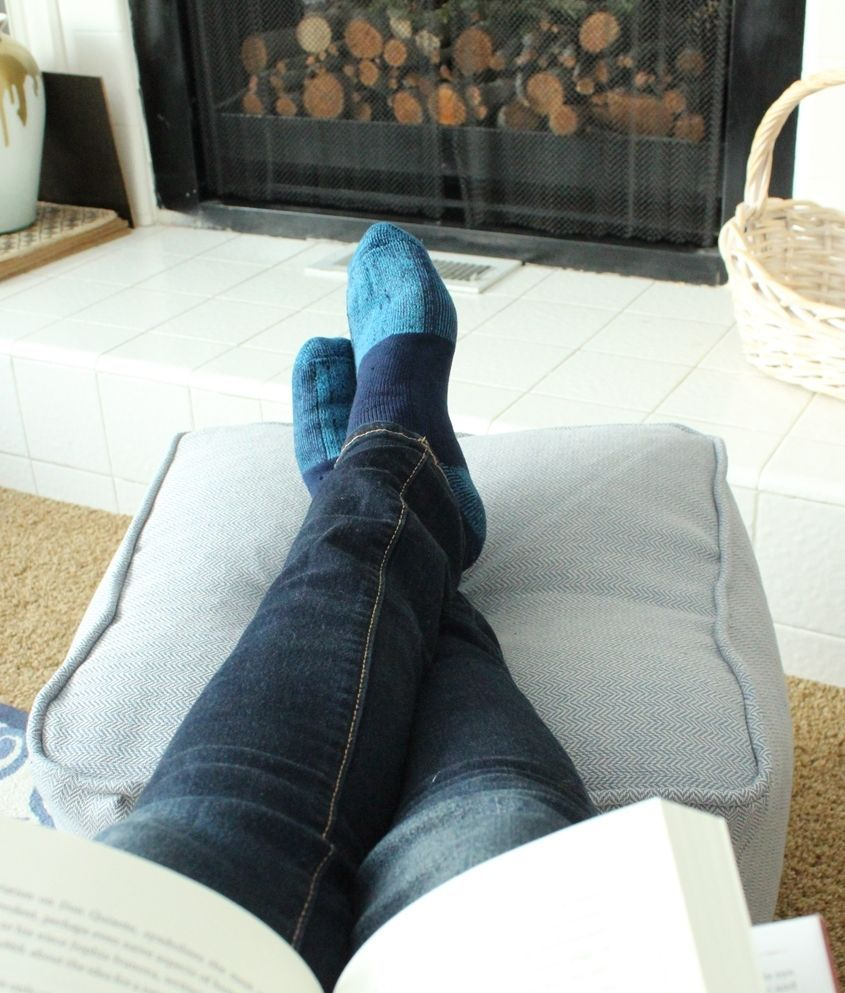 DIY Pouf Ottoman Cube - relaxed seating
