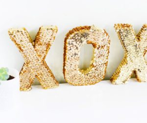 Sequin Crafts – DIY XOXO Letters