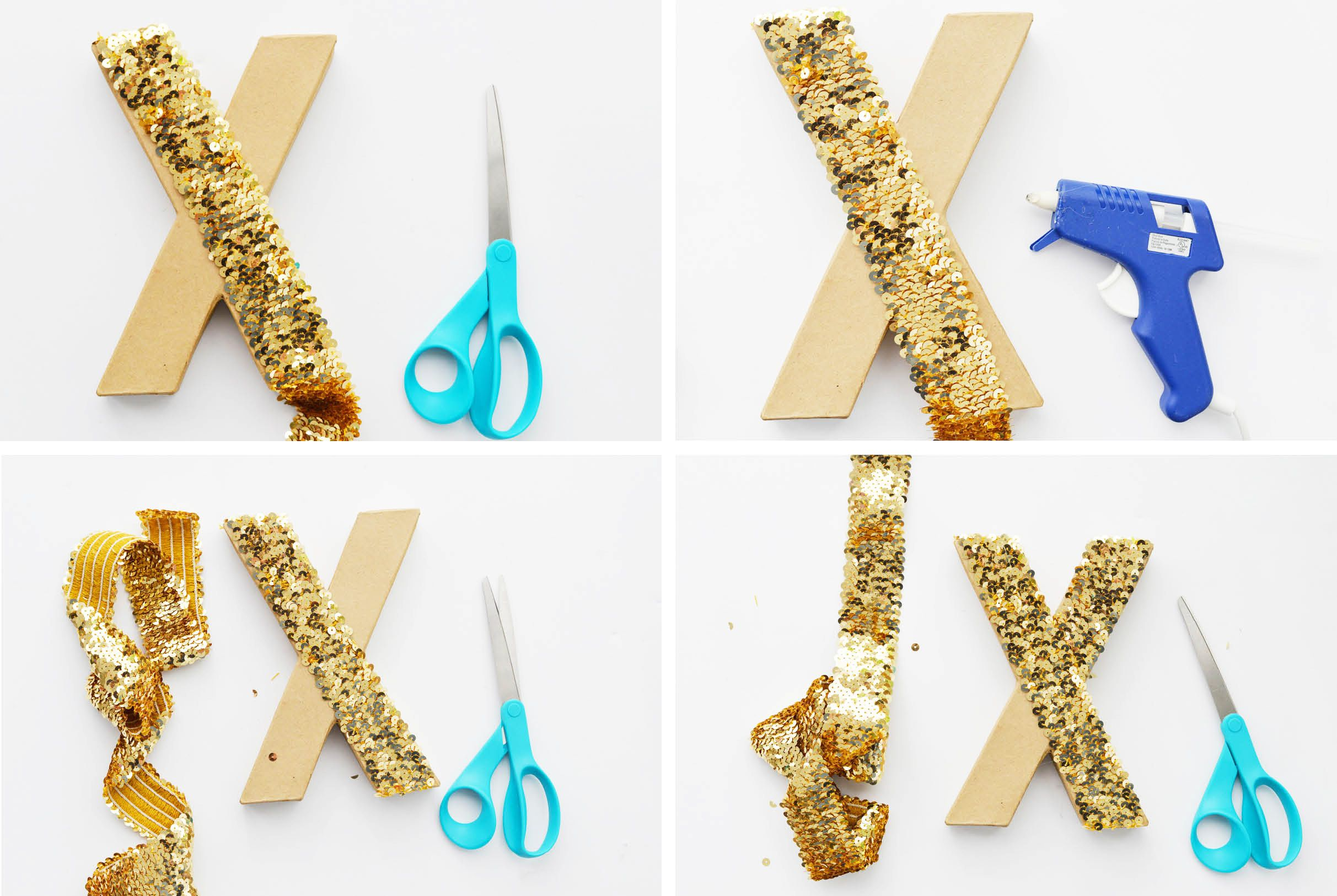 DIY Sequin XOXO Letters Instructions