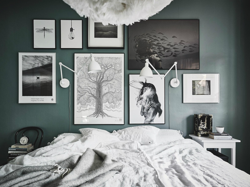 Decorate the wall behind bed