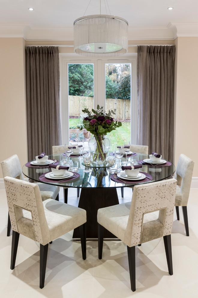 Decorative Dining Room Transitional Design Ideas For French Round Table Decorating