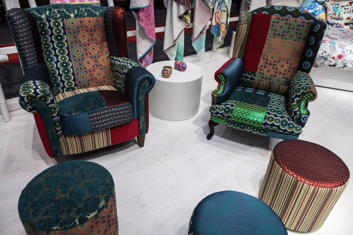 Desigual furniture design with rich colors